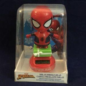 Marvel Spiderman Solar Bobble Head NIB